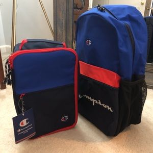 CHAMPION YOUTH QUAKE BACKPACK AND LUNCH KIT OS